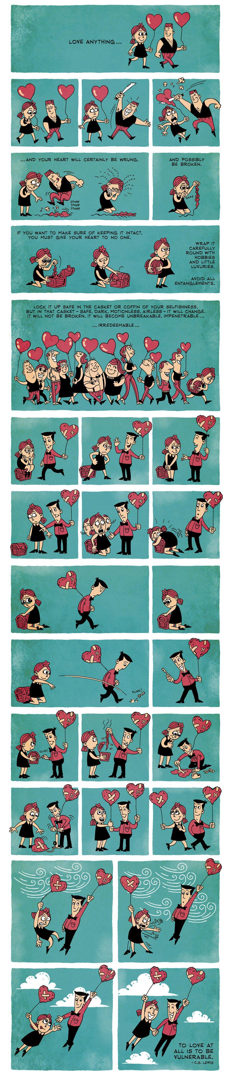 significato dell'amore in un fumetto